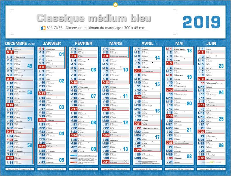 calendrier 2016 semaine numerotees