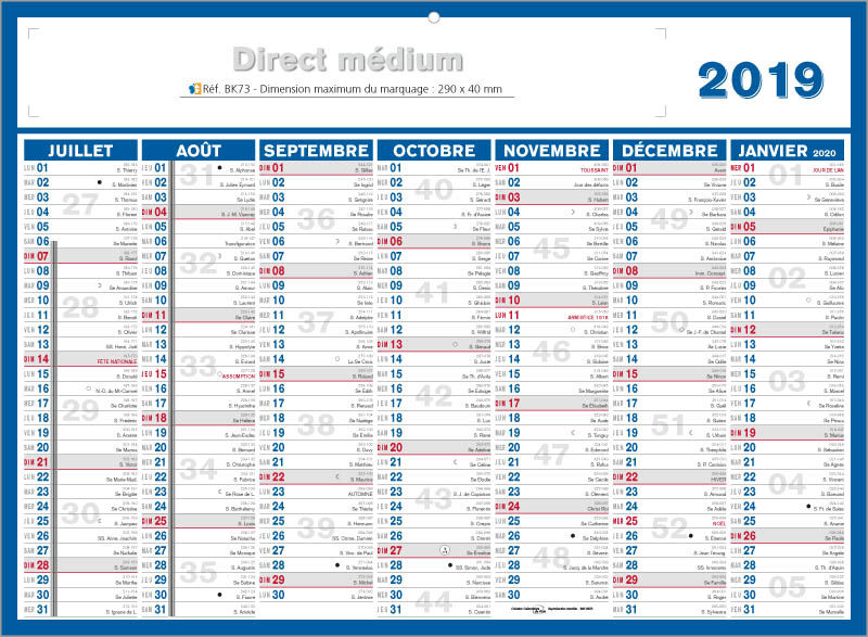 calendriers personnalis s medium direct calendriers 100 perso medium 42x32 cm. Black Bedroom Furniture Sets. Home Design Ideas