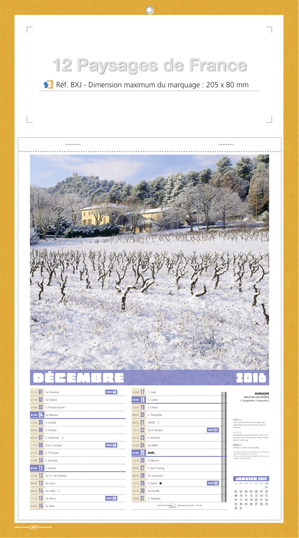 Calendriers personnalis s paysage fran ais calendriers for Paysage francais