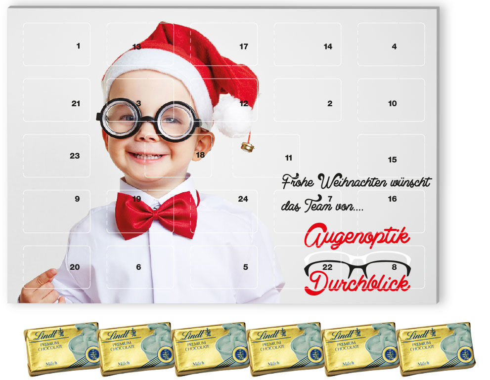 Calendrier De Lavent Personnalise Entreprise.Calendrier De L Avent Multi Choix Avec Naps Chocolat Lait