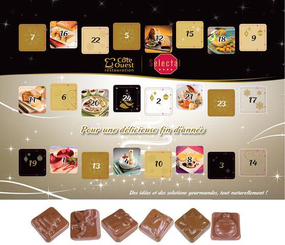 Calendrier De Lavent Personnalise Entreprise.Calendrier De L Avent Mural Au Chocolat Classique