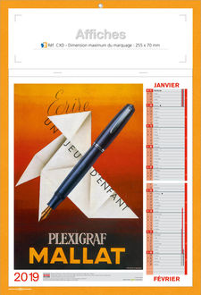 calendrier personnalise affiches retro