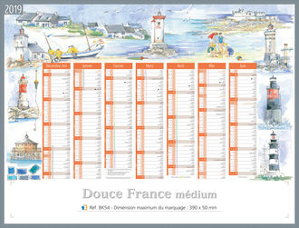calendriers personnalises medium paysage france