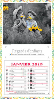 impression calendrier enfants